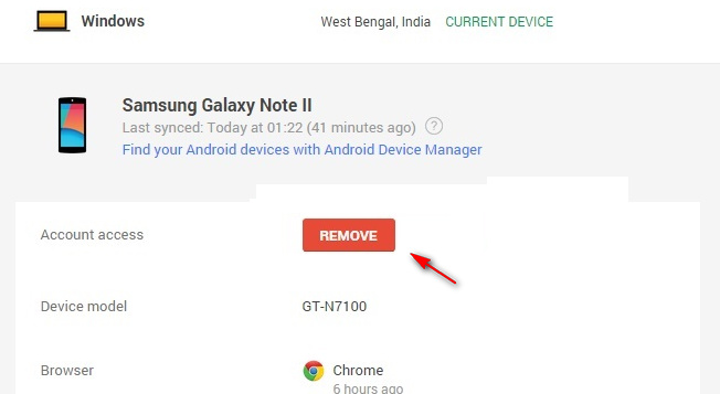 Remove Google account from Android phone to quit Google service on the phone