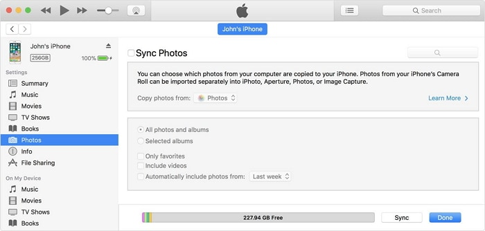 sync iphone to computer - step 2