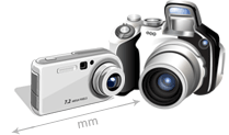 two digital cameras side by side
