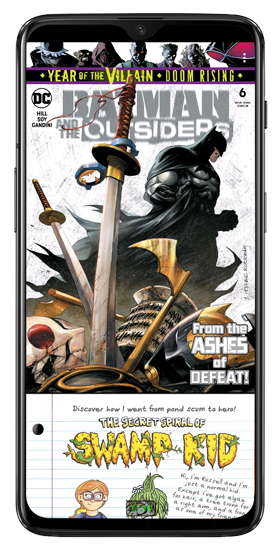 batman series opened in challenger viewer app - comic book reader app
