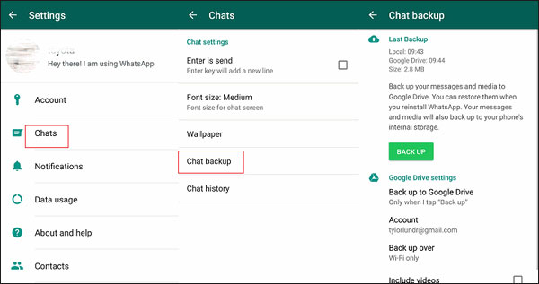 how to transfer whatsapp from one phone to another