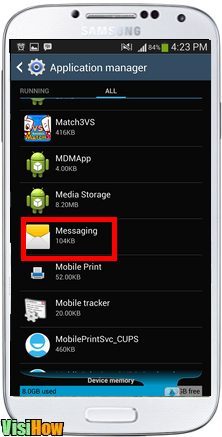 Yassora Walakobay on application manager swipe your way down to messaging.png