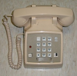Western Electric Model 2500 DMG, Typical push-button phone of the 1970s and early 80s, with 12 keys