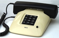 Iskra ETA85 pushbutton telephone with pulse-dialing keypad (Yugoslavia, 1988).