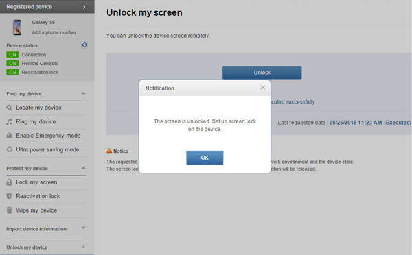 how to bypass samsung lock screen with find my device